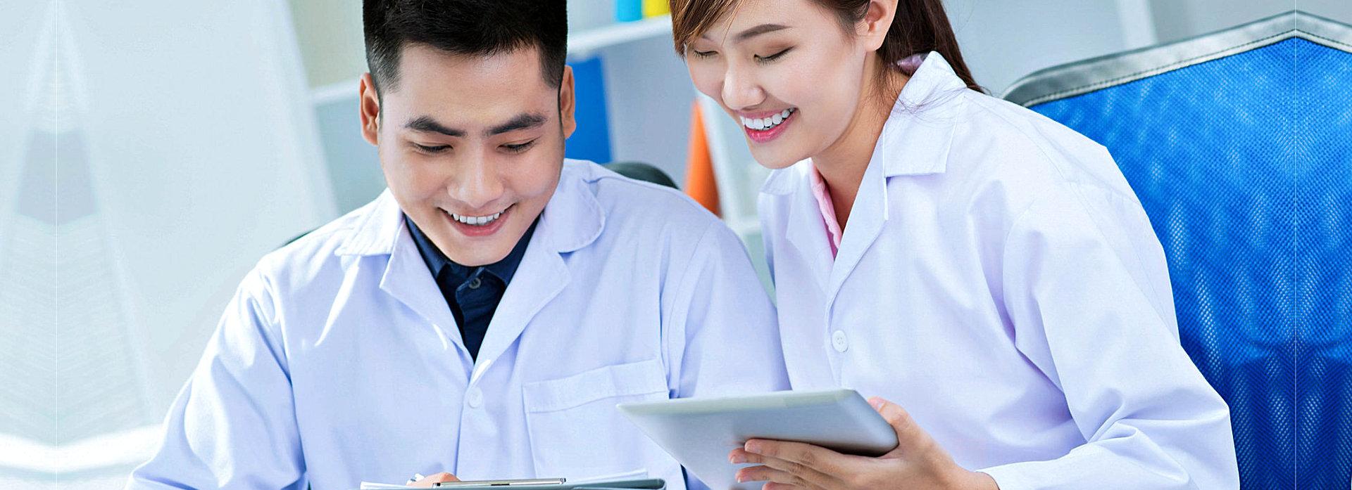 nurses smilng
