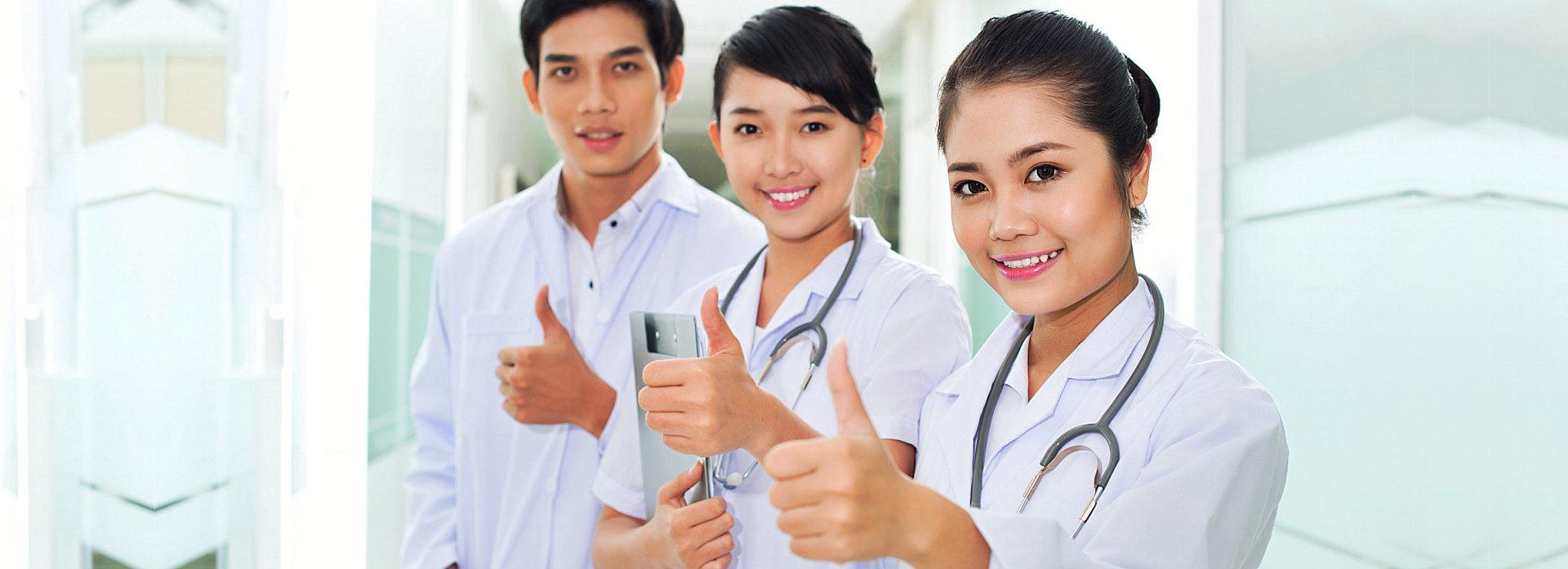 nurses thumbs up